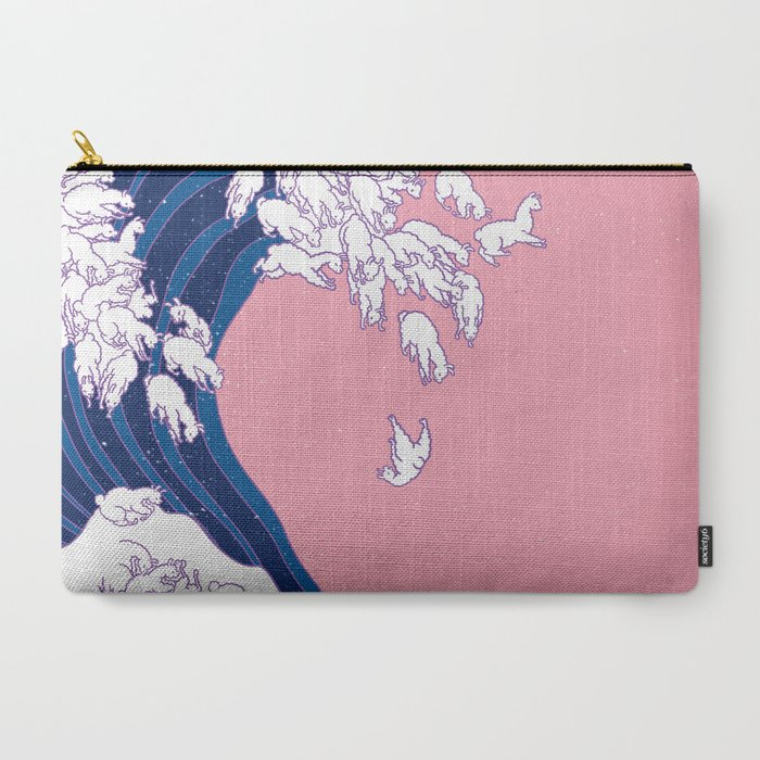 Llama_Waves_in_Pink_CarryAll_Pouch_by_Big_Nose_Work__Large_125_x_85