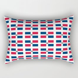 flag of the dominican republic 2-dominican,hispaniola,dominicana,antilles,caribean,santo domingo Rectangular Pillow