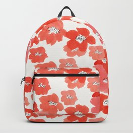 Camellia Flowers in Red Backpack