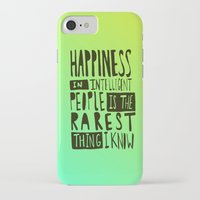 hemingway iPhone & iPod Cases featuring Hemingway: Happiness by Leah Flores