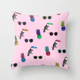 Tropical Print Take 2 Throw Pillow