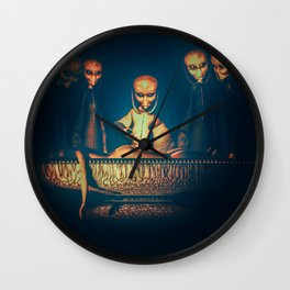 Alien Abduction Alien Autopsy Wall Clock