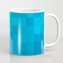 Blue and Teal Squares Coffee Mug
