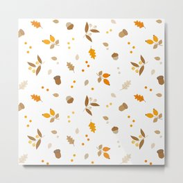 Botanical fall Metal Print