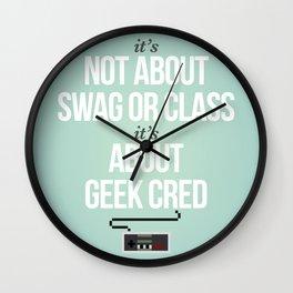 geek cred Wall Clock