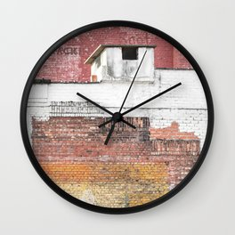 Washed Out City Wall - Abstract Urban Color Wall Clock