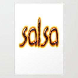 Salsa Marc On Fire Art Print