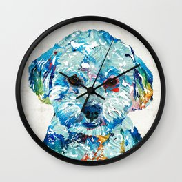 Small Dog Art - Soft Love - Sharon Cummings Wall Clock