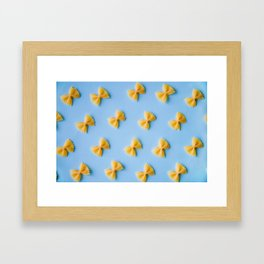 Bowtie Pasta Noodles (Color) Framed Art Print