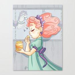 Cotton Candy Carousel Canvas Print