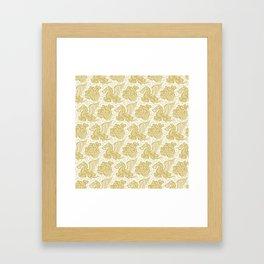Pegasus Pattern Gold Framed Art Print