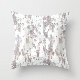 SYCAMORE TREE BARK Throw Pillow
