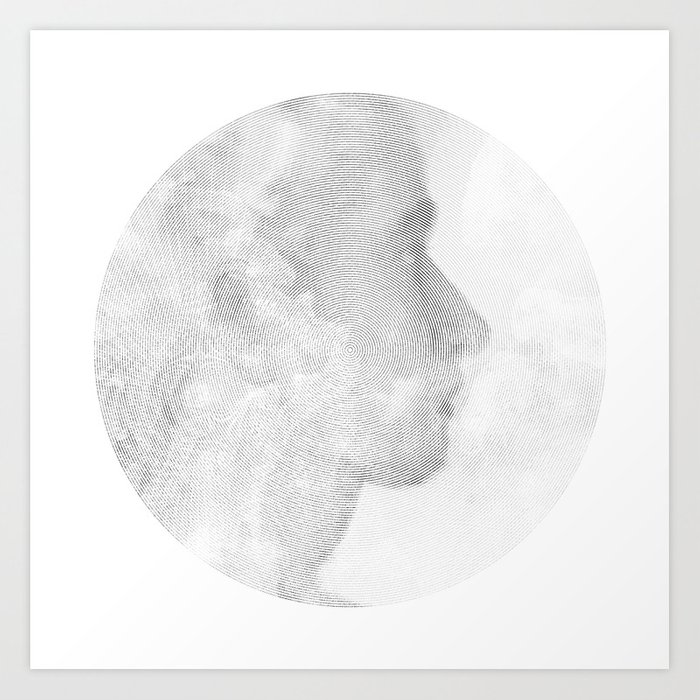 100 Circles #3 Art Print