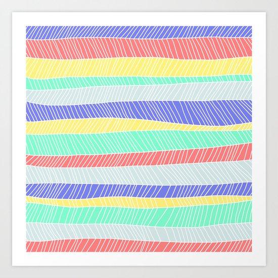 Beach Stripe 1 Art Print