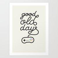 Good Old Days - Videogame Art Print