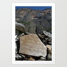 Prayer Stones en route to Pisang Art Print