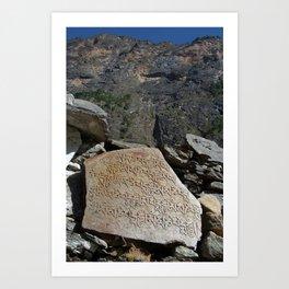 Prayer Stones en route to Pisang Art Print