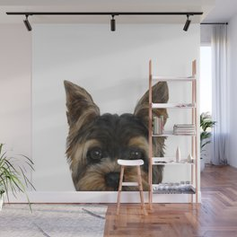 Yorkshire Terrier Mix colorDog illustration original painting print Wall Mural