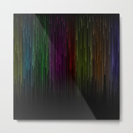 line rain rainbow light stripes lines flow Metal Print