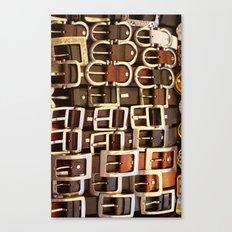 Italian leather belts, Florence market Canvas Print