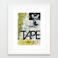 tape Framed Art Prints featuring Tape by CoCoCo