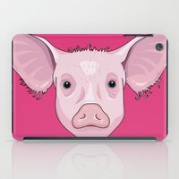 pig iPad Cases featuring Pig by Compassion Collective