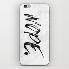 NOPE. - Marble Black and White Quote Words iPhone & iPod Skin
