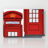 telephone iPad Cases featuring Telephone Booth by Maria Lauren Lambiris