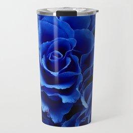 Blue Roses Flowers Plant Romance Travel Mug