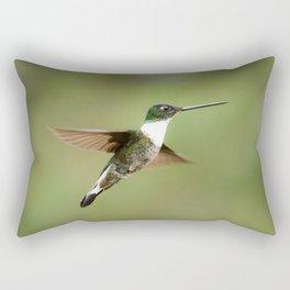 Collard Inca Hummingbird in Green Rectangular Pillow
