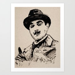 Mr Red's Poirot Art Print