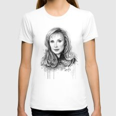 Beverly Crusher White SMALL Womens Fitted Tee