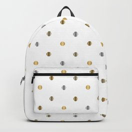 Silver and Gold Polka Dot Design Backpack