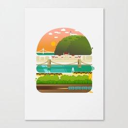 Budapest burger Canvas Print