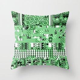 PalletGlitch Throw Pillow
