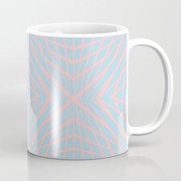 geometric, pink on blue Coffee Mug