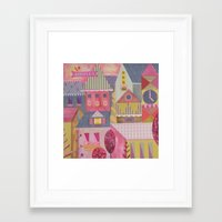 home sweet home Framed Art Prints featuring home by Jill Howarth