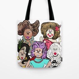 Collage of Queens, RuPaul's Drag Race Tote Bag