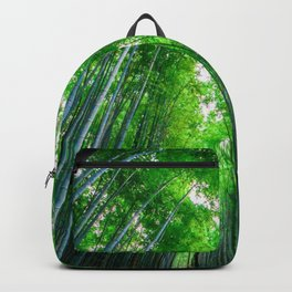 bamboo forest trees bottom view Backpack