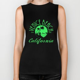 Venice Beach California Stringer Vest Tank Top muscle gym bodybuilding Sun Fun california Biker Tank