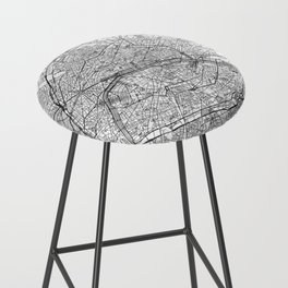 Paris Map Line Bar Stool