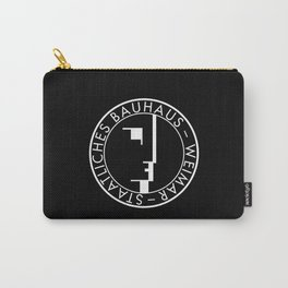 BAUHAUS LOGO / BLACK Carry-All Pouch