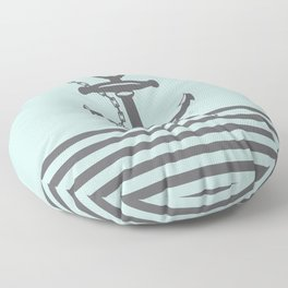 AFE Pale Turquoise and Brown Anchor Floor Pillow