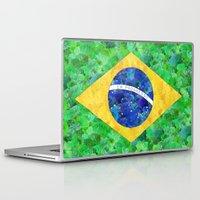 brasil Laptop & iPad Skins featuring BRASIL em progresso by Bianca Green