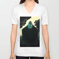 frankenstein V-neck T-shirts featuring Frankenstein by Annalisa Leoni