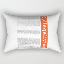 "College Humour ""Choose College Life"" Rectangular Pillow"