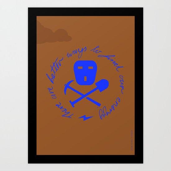 Coal Pirate Art Print