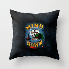 Drunken Skull Throw Pillow