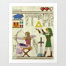 hero-glyphics: Hyrule History Art Print