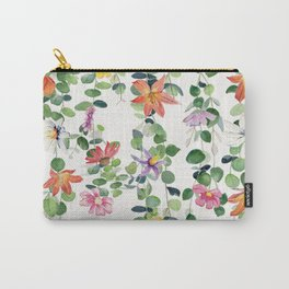 Flowers and Eucalyptus Garland Carry-All Pouch